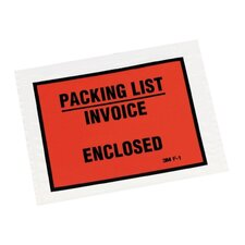Non-Printed Self-Adhesive Packing List Envelope, 1000/Box