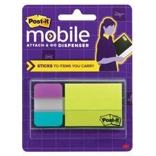Post It Mobile Attach & Go Note and Tabs Dispenser