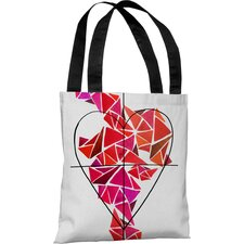 Oliver Gal Piece of My Heart Polyester Tote Bag