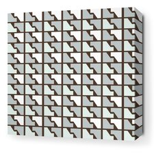 Estrella Faux Houndstooth Stretched Wall Art in Cornflower