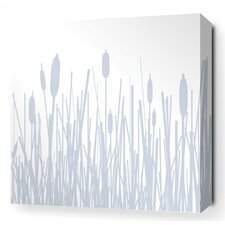 Cattails Stretched Wall Art in Ice