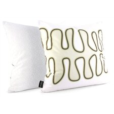Spa Kelp Suede Throw Pillow