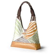 Reagan Leaf Handbag in Grass / Butterscotch