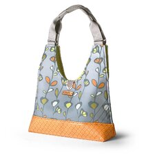 Reagan Stencil Handbag in Sunshine / Gray