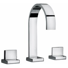 J15 Bath Series Two Lever Handle Roman Tub Faucet with Classic Ribbon Spout