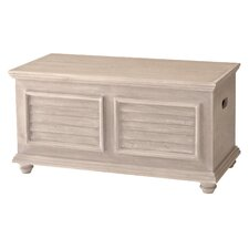 Cape May Storage Trunk with Wood Top