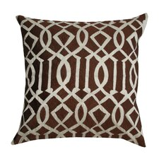 Embroidered Trellis Silk Pillow