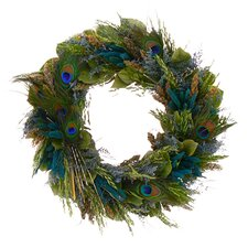 Pretty Peacock Wreath