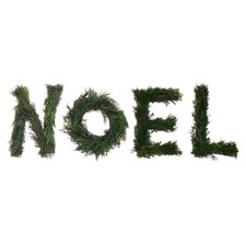 Noel Cedar Sign Wreath