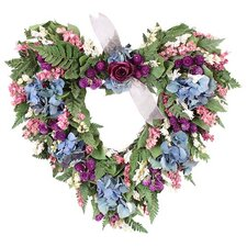 Garden Delight Heart Wreath