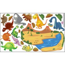 Peel and Play Dinosaur Wall Play Set