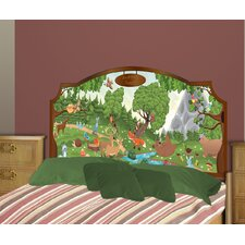Peel and Stick Forest Panel Headboard