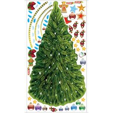 Peel and Play Christmas Tree Wall Play Set