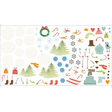Peel and Play Snowman Wall Play Set