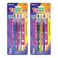 Tattoo Gel Ink Pen (Set of 3)