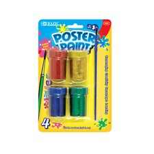 Glitter Poster Paint (Set of 4)