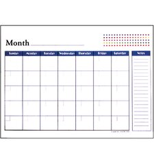 Undated 12-Months Desk Pad Calendar (Set of 48)