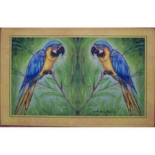 Coastal Blue Macaw Door Mat