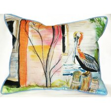 Coastal Pelican Indoor / Outdoor Rectangular Pillow