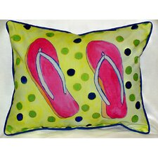 Coastal Flip Flops Indoor / Outdoor Pillow