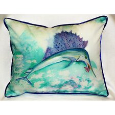 Coastal Sailfish Indoor / Outdoor Pillow