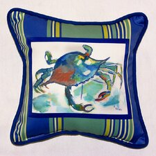 Coastal Stripe Crab Indoor / Outdoor Pillow