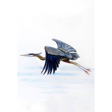 Eddie's Blue Heron Vertical Flag