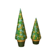 Cartwheel Cone Tree (Set of 2)