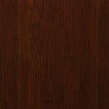 "Smooth 5-1/4"" Solid Stained Carbonized Horizontal Bamboo Flooring in Auburn"