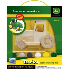 Works of Ahhh Tractor Wood Paint Kit