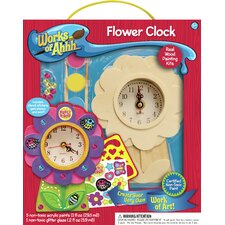 Works of Ahhh Flower Clock Wood Paint Kit