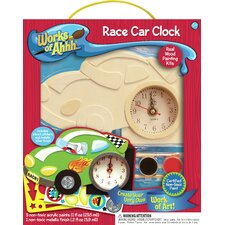 Works of Ahhh Race Car Clock Wood Paint Kit