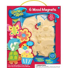 Works of Ahhh 6 Magnets Wood Paint Kit