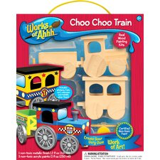 Works of Ahhh Choo Choo Train Wood Paint Kit