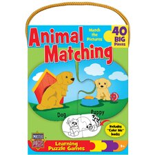 Animal Matching Game 40 Piece Jigsaw Puzzle