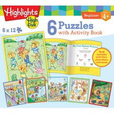 Highlights Activity Book 12 Piece Jigsaw Puzzle (Set of 6)
