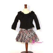 "Classic Fall Outfit for 18"" American Girl Doll"
