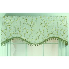 Bloom Shaped Cotton Blend Rod Pocket Scalloped Curtain Valance
