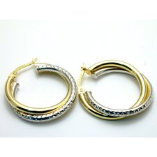 Modern Silver Designs Sterling Silver Intertwined Hoops Earrings