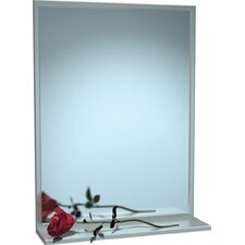 "Steel Chan-Lok Angle Frame Mirror with Shelf, 16"" x 24"""