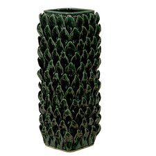 Green Leafs Accent Ceramic Vase II
