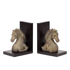 Resin Horse Bookends (Set of 2)