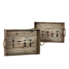 Wooden Trays (Set of 2)