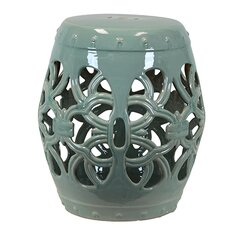 Ceramic Garden Stool Open Work