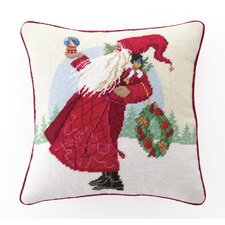 Clara's Christmas Needlepoint Pillow