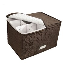Tabletop Storage Micro Fiber Stemware Chest