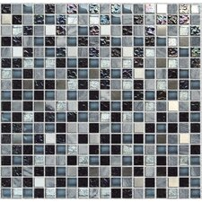 "Crystone CS005 11-4/5"" x 11-4/5"" Stone and Glass Mosaic"