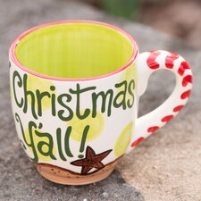 Palm Tree and Sleigh Merry Christmas Y'all 16 oz. Jumbo Mug