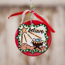 Believe Flat Ornament