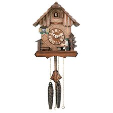 Cuckoo Clock with Beer Drinker Raising His Mug